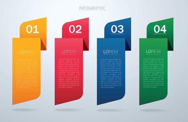 Infografik vektorvorlage mit 4 optionen