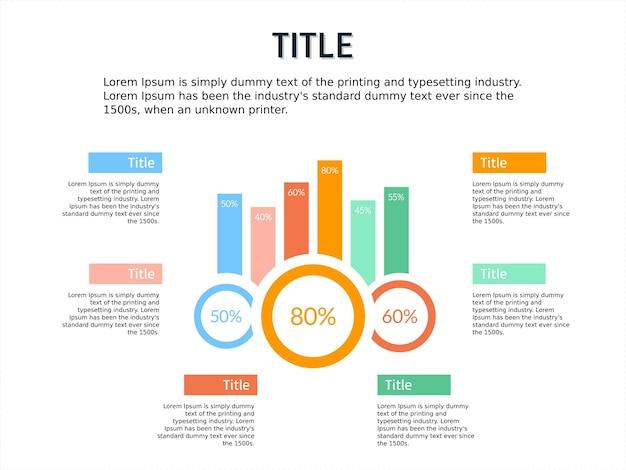 Infografik vorlage bar potrait und smart bussiness