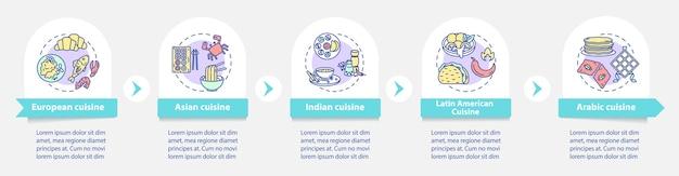 Infografik-vorlage der nationalen küche