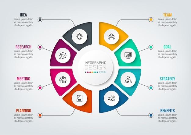 Infografik-vorlage des geschäftskonzepts mit diagramm with