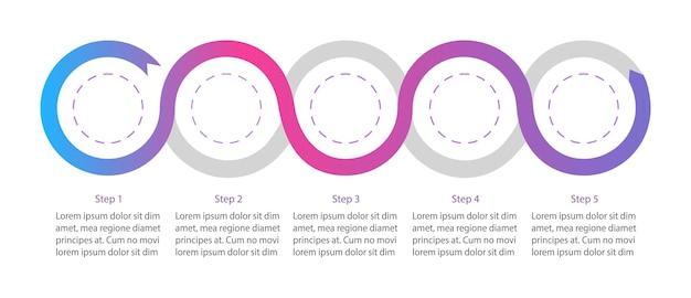 Infografik-vorlage des unternehmensflussdiagramms im kreativen design