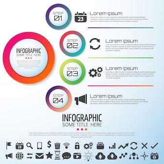Infografik vorlage design
