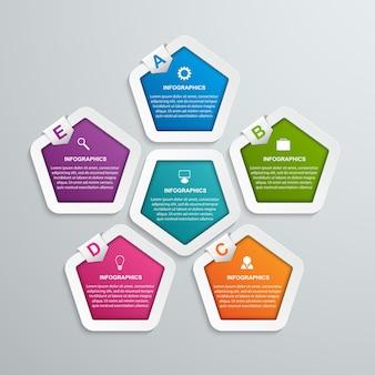 Infografik-vorlage für abstrakte optionen