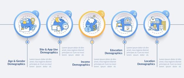 Infografik-vorlage für audience insight