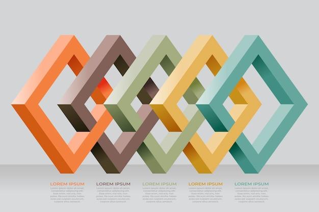 Infografik-vorlage für blockebenen