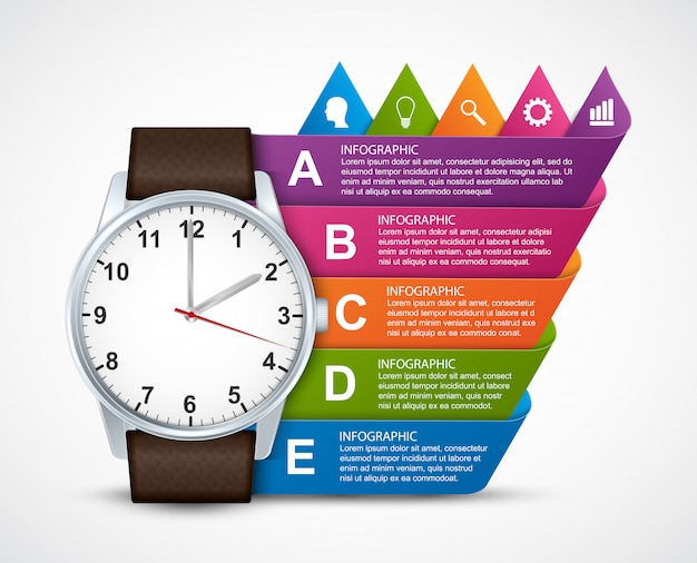 Infografik-vorlage für business-präsentationen.