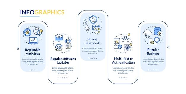 Infografik-vorlage für computerschutz