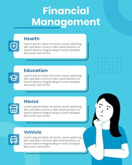Infografik-vorlage für das finanzmanagement
