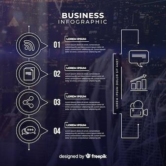Infografik-vorlage für das geschäft mit foto