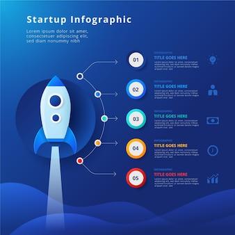 Infografik-vorlage für den gradientenstart