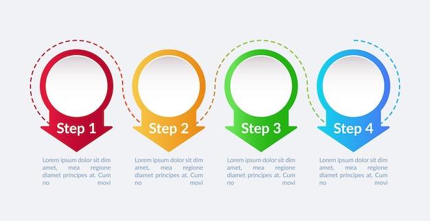 Infografik-vorlage für den zukünftigen pfad des unternehmens