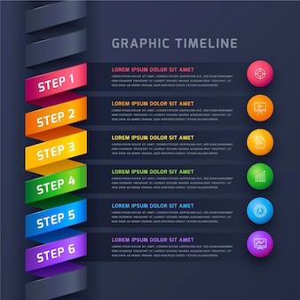 Infografik-vorlage für die verlaufszeitleiste