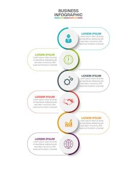 Infografik-vorlage für die visualisierung von geschäftsdaten