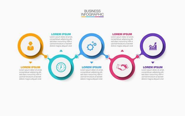 Infografik-vorlage für die zeitachse der geschäftsdatenvisualisierung