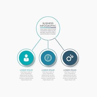 Infografik-vorlage für die zeitachse des geschäftskreises