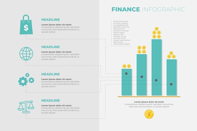 Infografik-vorlage für finanzen