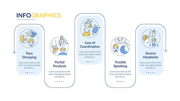 Infografik-vorlage für gehirnschlag