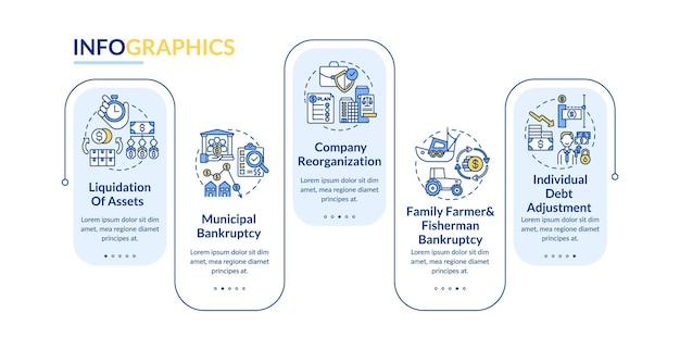 Infografik-vorlage für geschäftsinsolvenz