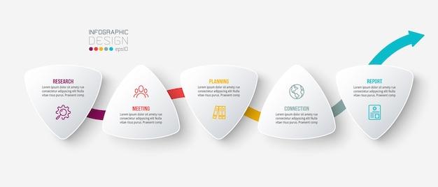 Infografik-vorlage für geschäftskonzepte mit optionen
