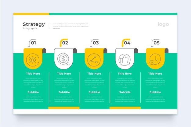 Infografik-vorlage für geschäftsstrategie