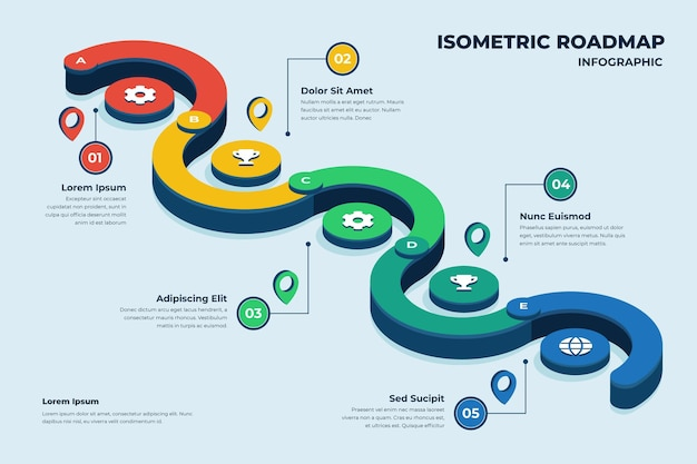 Infografik-vorlage für isometrische fahrpläne