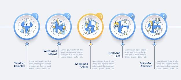Infografik-vorlage für kinesiologie-taping