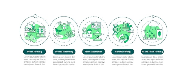 Infografik-vorlage für landwirtschaftsinnovationen
