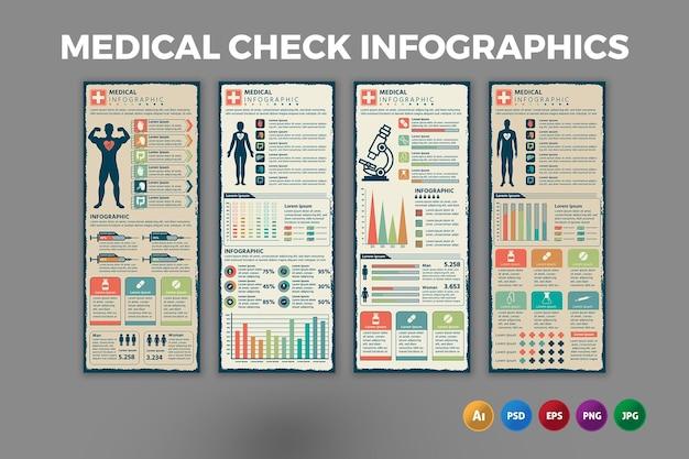 Infografik-vorlage für medizinische untersuchungen