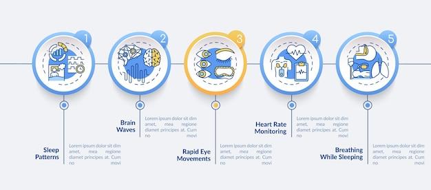 Infografik-vorlage für medizinisches screening. präsentationselemente für die klinische untersuchung. datenvisualisierung mit 5 schritten. zeitdiagramm verarbeiten.