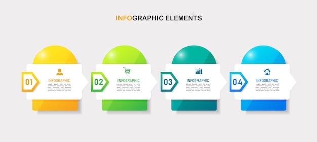 Infografik-vorlage für modernes design
