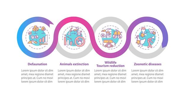 Infografik-vorlage für naturschutz