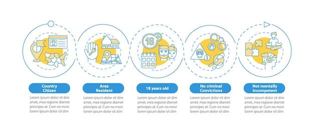 Infografik-vorlage für online-umfragen.