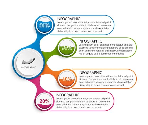 Infografik-vorlage für präsentationen