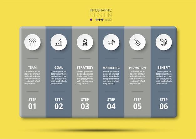 Infografik-vorlage für präsentationsgeschäft oder marketing