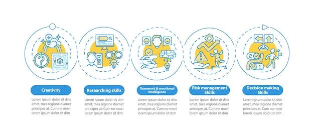 Infografik-vorlage für problemlösungsfähigkeiten. kreatives denken präsentationsdesignelemente