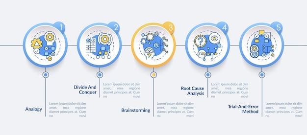 Infografik-vorlage für problemlösungsstrategien
