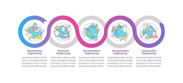 Infografik-vorlage für professionelle ingenieurarbeiten