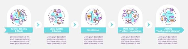 Infografik-vorlage für tipps zur verbesserung der problemlösungsfähigkeiten
