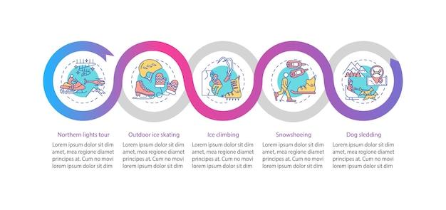 Infografik-vorlage für wintersportaktivitäten