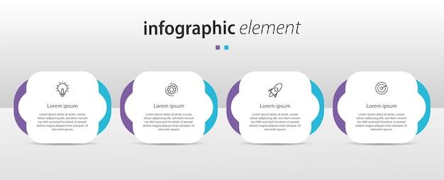 Infografik-vorlage für zeitdiagramm.