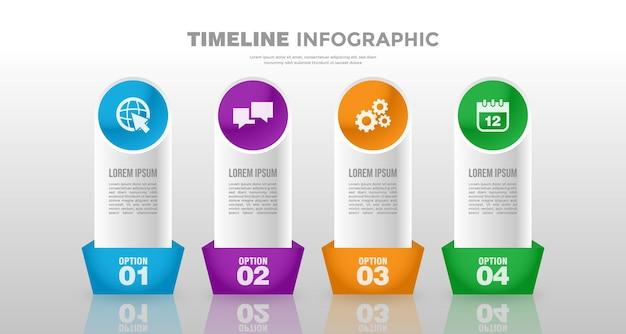Infografik-vorlage für zeitleistengeschäft