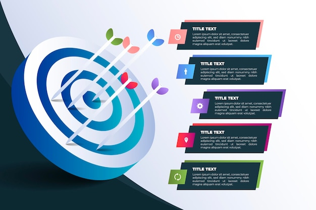 Infografik-vorlage für ziele