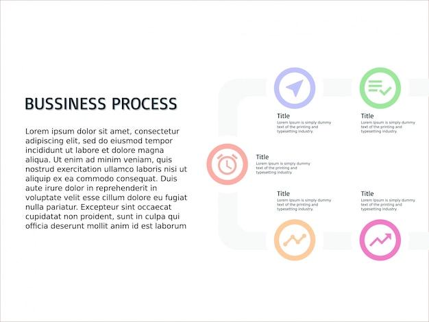 Infografik vorlage geschäftsprozess