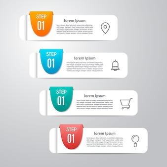 Infografik-vorlage mit 4 optionen