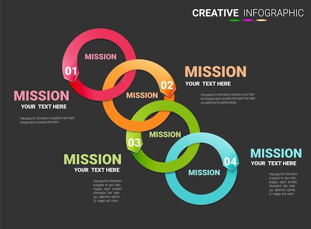 Infografik vorlage mit 4 optionen