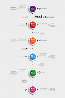 Infografik-vorlage mit 6 schritten zum erfolg