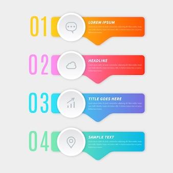 Infografik-vorlage mit farbverlauf