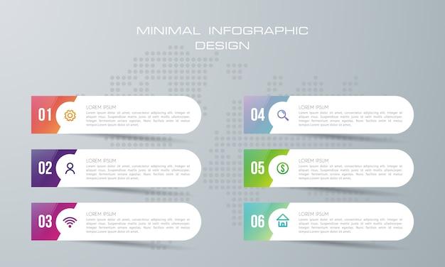 Infografik-vorlage mit optionen. workflow-layout.