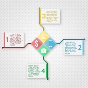 Infografik-vorlage mit quadraten