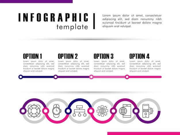 Infografik-vorlage mit statistiken im weißen illustrationsdesign